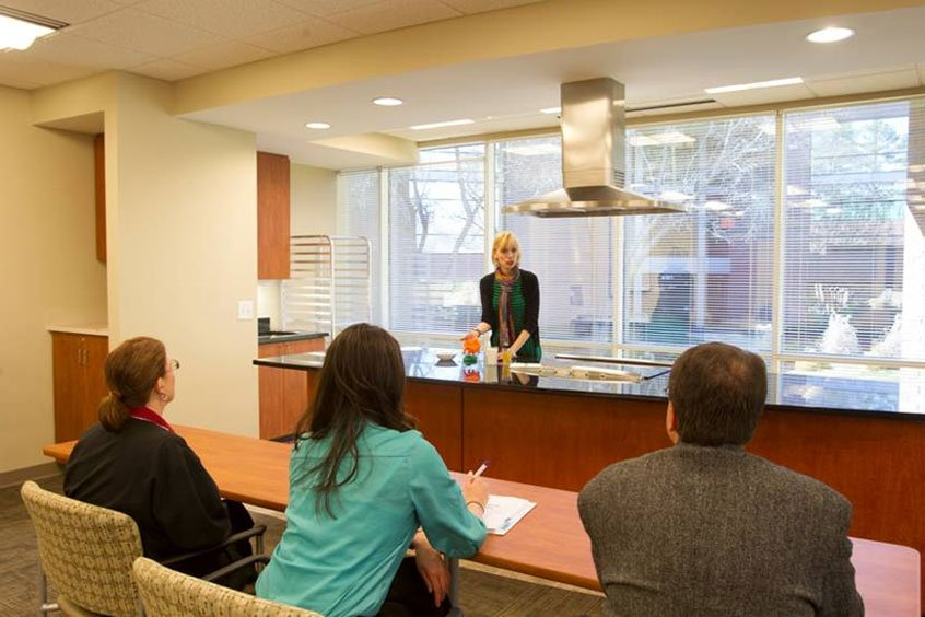 Demonstration kitchen in REX Bariatrics